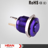16mm High Head Nickel Brass Plated Color Push Button Switch