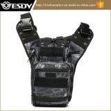 Esdy Saddle Bag Camping Bag Black Python Camouflage