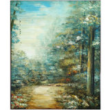 Handmade Canvas Peaceful Tree Oil Painting (LH-M170510)
