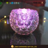 Crystal Bubble Glass Tealight Candle Holder