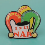 Factory Supply Customized Printed Epoxy Badge Pins