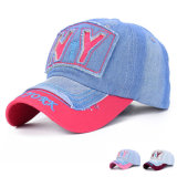 100% Washed Cotton Denim Embroidered Fashion Baseball Cap (YKY3054)