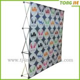 Exhibition Backdrop Display Magic Tape Pop up Retractable Banner Stand