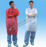 Nonwoven PP Visitor Coat, Disposable Single Use Visitoc Coat