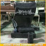 Haobo Stone New Design Granite Tombstone with Vase