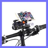 360 Degree Rotating Multifunction 2 in 1 Universal Mobile Phone Bike Holder with Flashlight Clamp