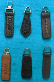 Black and Brown Customized Leather Zipper Slider