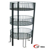 Collapsible Metal Wire Basket for Slatwall and Gridwall/Display Rack