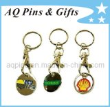 Trolley Coin Keychain with Enamel Color