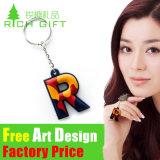 Personalized Design PVC Rubber Alloy Custom Horseshoe Keyring