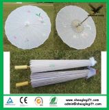 Customized Logo Promotional Bamboo White Paper Umbrella