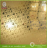 Mirror Etching Luxurious Exterior Wall Stainless Steel Sheets From Foshan