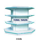 Plastic Coating Metal Round Style/Four Column Style Supermarket Shelf