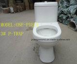 Wc Ceramic One-Piece P-Trap Toilet