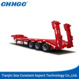 3 Axles Stright Beam Lowbed Semi Trailer
