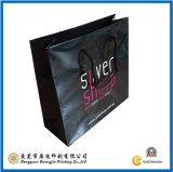 Customized Black Paper Shopping Bag (GJ-Bag019)