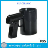 Black Coffee Mug Cup with Gun Shape Handle