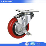 4 Inch Rubber Swivel Brake Caster Wheel