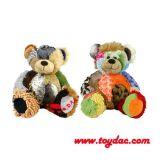 Plush Faux Fur Color Rainbow Bears