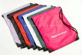 Colorful Promotional Polyester Custom Fabric Shopping Drawstring Bag