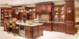 Walnut Solid Wood Kitchen Furnitures with Granite Countertop (zq-020)