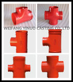 Hight Quality Ductile Iron 250psi Theraded Reducing Tee (FM/UL)