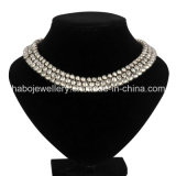 Fashion Jewelry/ Metal Necklace/Big Pearl Inside Necklace (XJW13363)