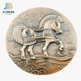 Antique Bronze Zinc Alloy 3D Horse Custom Souvenir Medallion (JIABO-1008)