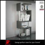 Portable High Gloss Shelving Unit Wooden Display Stand Bookshelf