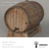 Hongdao Wholesale Price Pine Oak Solid Wood Customized Wine Barrel _E