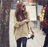 New Design Women′s Knitting Hoodie with Hat Sweater Long Style Hotsales