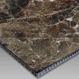 Light Emperador Marble and Aluminium Honey Comb Composite Panel