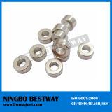 N35 Large NdFeB Ring Magnet Nicuni Coating
