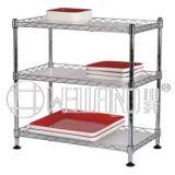 DIY Adjustable Steel Mini Kitchen Wire Shelf Rack for Food (CJ603060C3C)
