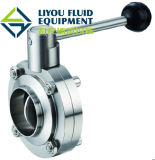 Sanitary Stainless Steel Butterfly Valve (110001)