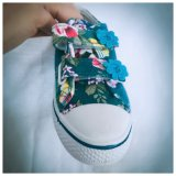 Magic Tape Baby Shoes Easy Walk with Lovely Flowers Printing