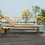 Leisure Modern Design Beach Lounge Chair Made of Stainless Steel