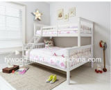 White Three Sleeper Bunk Bed, Double and Single