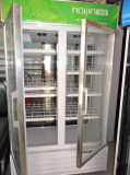 Beverage Display Showcase/Beverage Refrigerator with 2 Doors