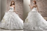 China Tulle Ruffle Vintage Wedding Dress Bridal Ball Gown