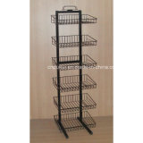 Metal Wire Floor Basket Stand (PHY323)