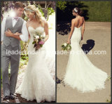 Sweetheart Mermaid Wedding Dress Buttons Back Lace Bridal Gown W15242