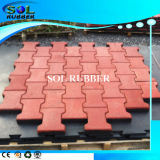 Free Intall Outdoor Dog Bone Paver Rubber Flooring