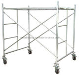 Painted Scaffolding Frame for Construction