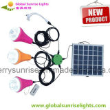Mini Rechargeable Portable Solar Light Solar Kits with 3 Bulbs and Mobile Phone Charger