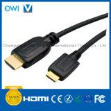 Black HDMI 19pin Plug-Mini HDMI Plug Cable for HDTV/4K/3D/Internet