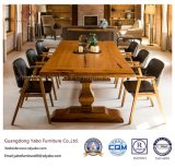 Modern Solid Wood Restaurant Furniture Sets with Leather Armchair (YB-R4)