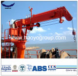 2t 7m Telescopic Boom Provision Hydraulic Marine Crane