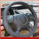 2014 New Grey Gnuine Leather Car Steering Wheel Covers