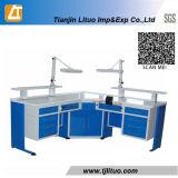 Ce & SGS Approved Dental Laboratory Furniture Medical Workstation Corner Work Table